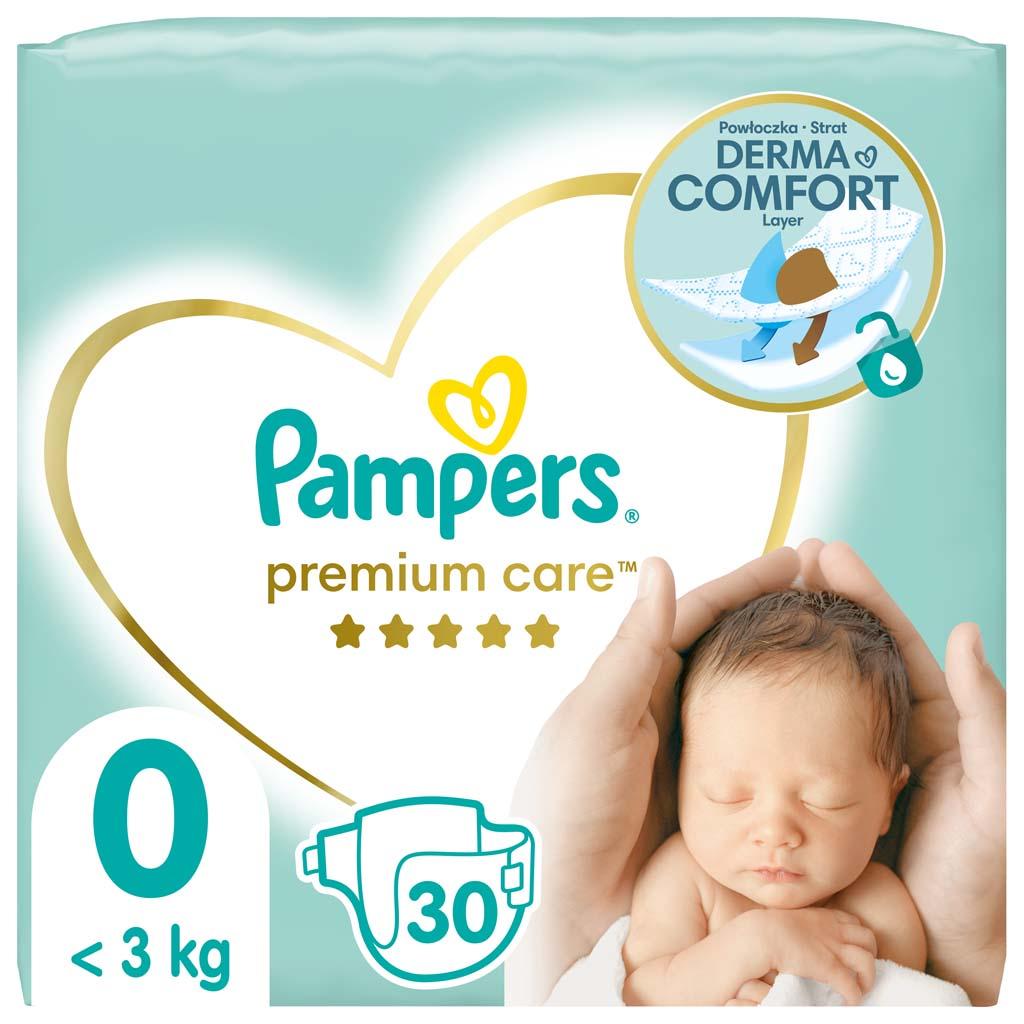 PAMPERS Plienky Premium Care 0 NEWBORN do 2,5kg 30ks
