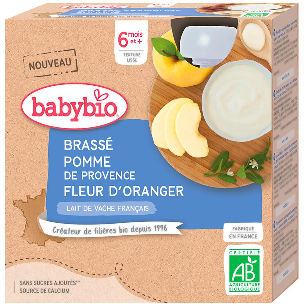 BABYBIO Brass jablko pomarančový kvet 4x85 g