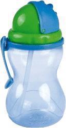 CANPOL BABIES Fľaša športová sa slamkou 370ml - modrá