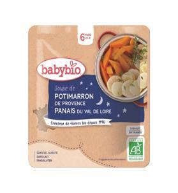 BABYBIO Tekvicová polievka s paštrnákom (190 g)