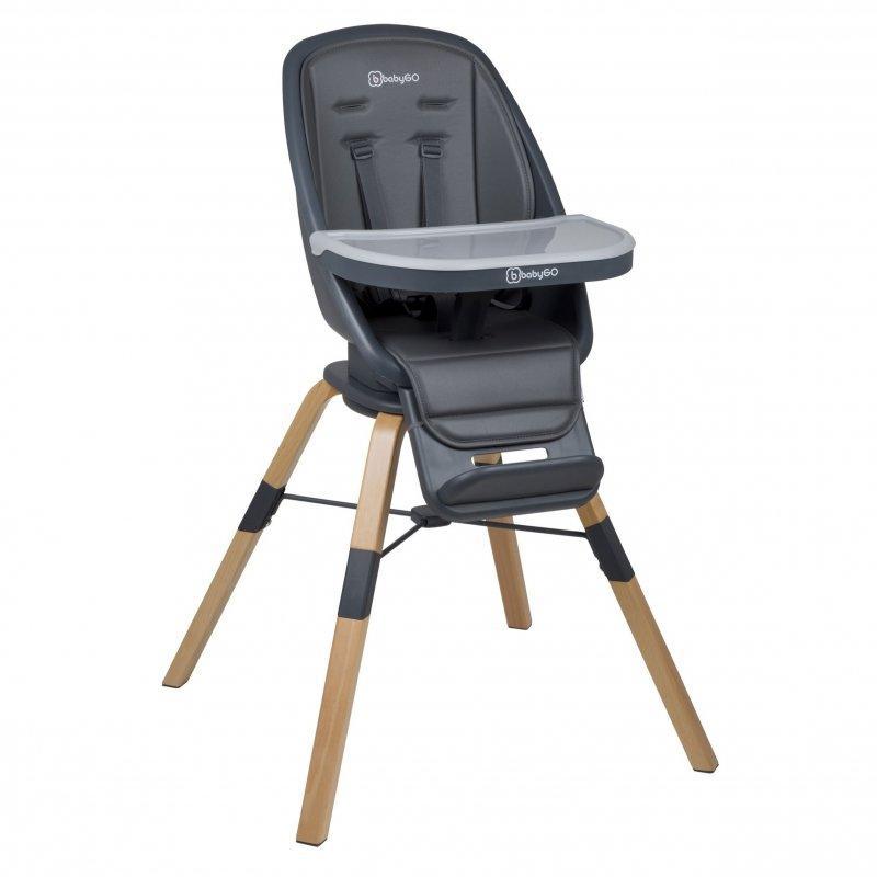 BABYGO Jedálenská stolička Carou 360° Grey