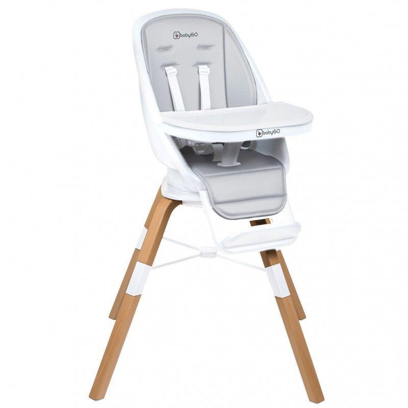 BABYGO Jedálenská stolička Carou 360° White