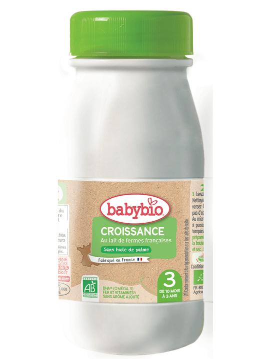 BABYBIO Croissance 3 tekuté dojčenské bio mlieko (0,25 l)