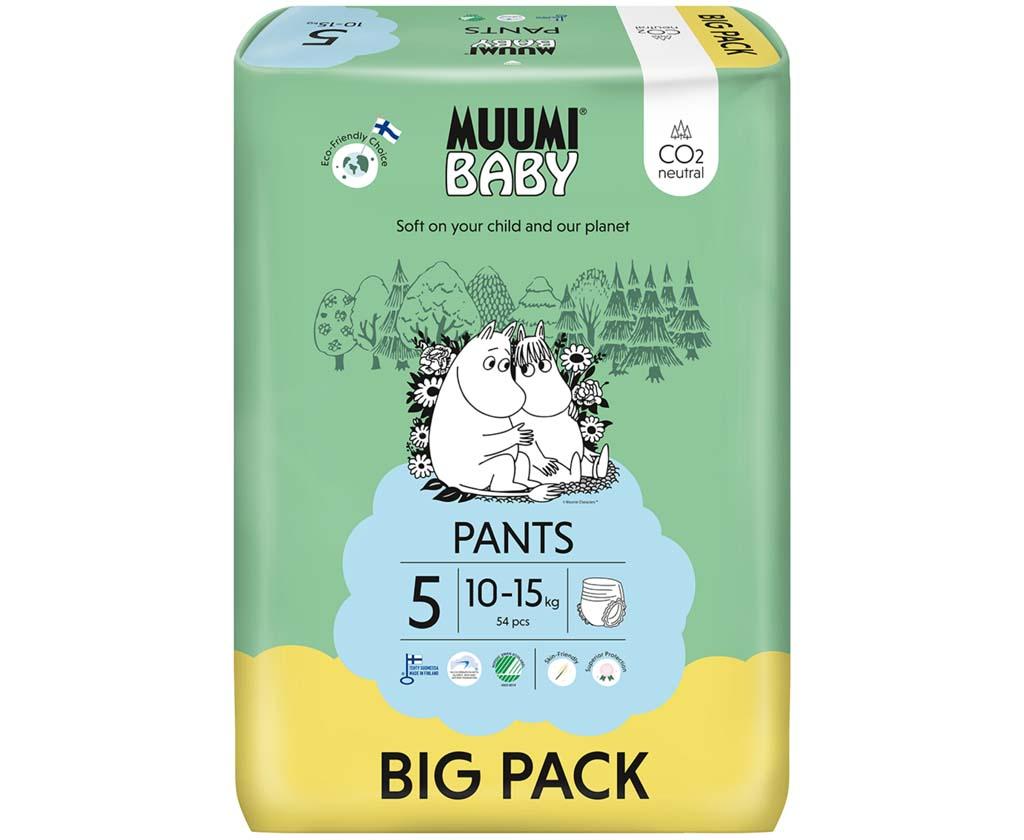 MUUMI Nohavičky plienkové jednorázové 5 Maxi+ 10-15kg 54ks Baby