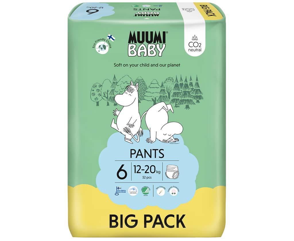 MUUMI Nohavičky plienkové jednorázové 6 Junior 12-20kg 52ks Baby