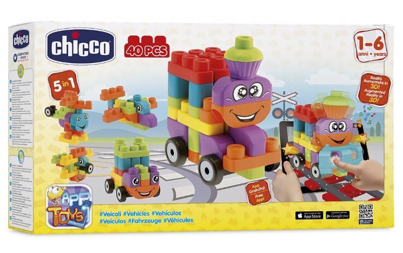 Hračka stavebnice App Toys 40ks - Dopravní prostředky