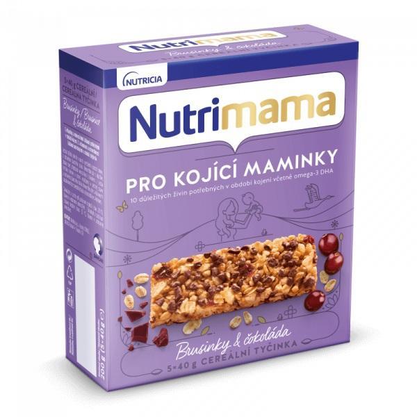 Tyčinky cereálne NUTRILON NUTRIMAMA Profutura Brusnice a čokoláda 5x40g