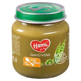 HAMI Príkrm zeleninový Zelený hrášok 125g