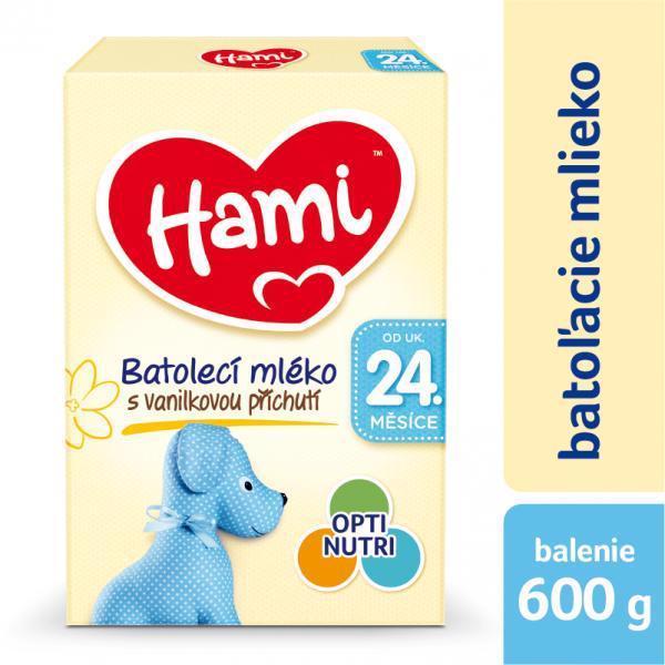 HAMI Mlieko dojčenské 24+ s príchuťou vanilky 600g