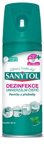 SANYTOL Dezinfekcia povrchov v aerosole 400 ml
