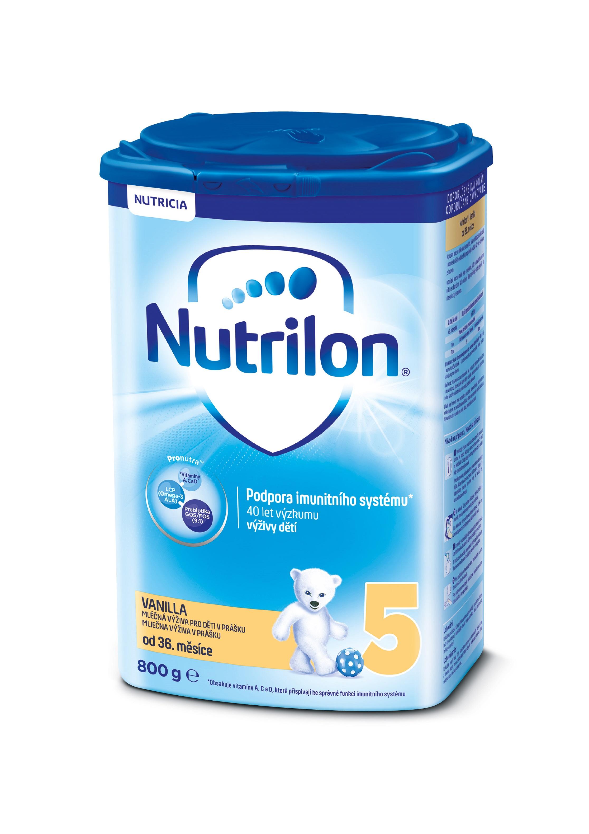 NUTRILON 5 Vanilla detské mlieko 800 g, 36+