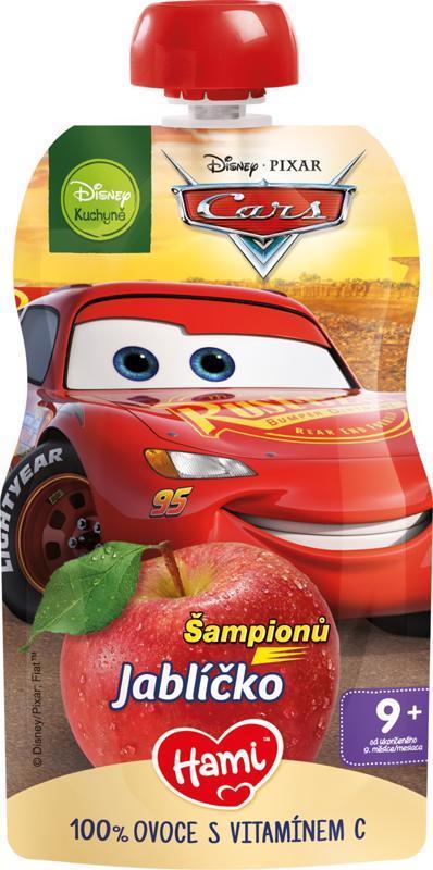 HAMI Kapsička ovocná Disney Cars Jabĺčko 110g, 9+