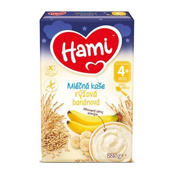 HAMI Mliečna kaša ryžová banánová na dobrú noc 225g