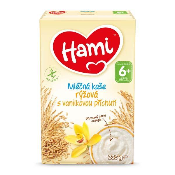 HAMI Mliečna kaša ryžová s vanilkovou príchuťou 225g