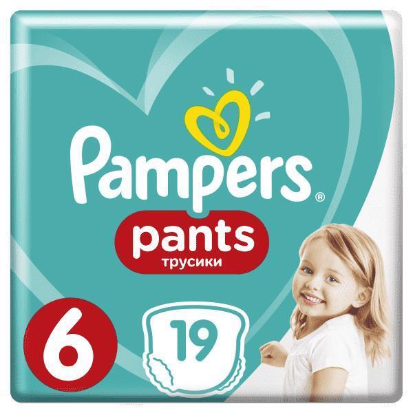 PAMPERS Nohavičky plienkové Pants 6 EXTRA LARGE 15+kg 19ks