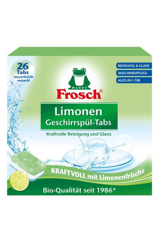 FROSCH EKO Tablety do umývačky všetko v 1 Citrón (26 Tabliet)