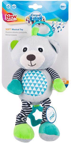 CANPOL BABIES Plyšová hracia skrinka Medvedíky šedá