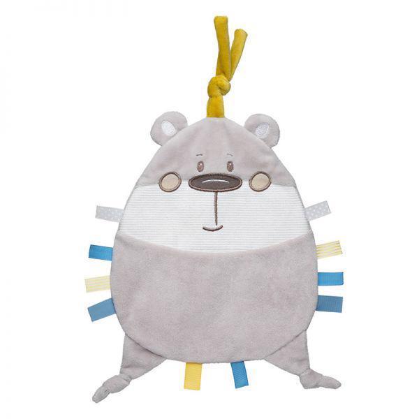 CANPOL BABIES Maznáčik plyšový Pastel Friends šedý medvedík