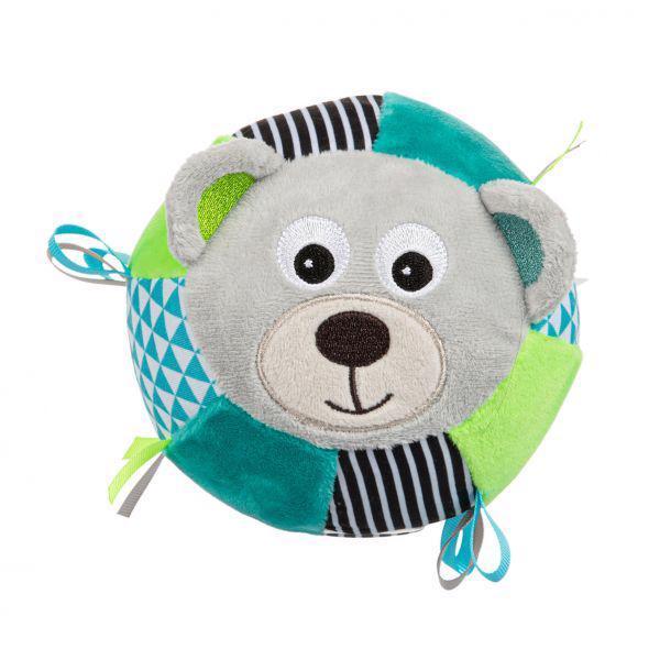 CANPOL BABIES Plyšová senzorická loptička Medvedíky sivá