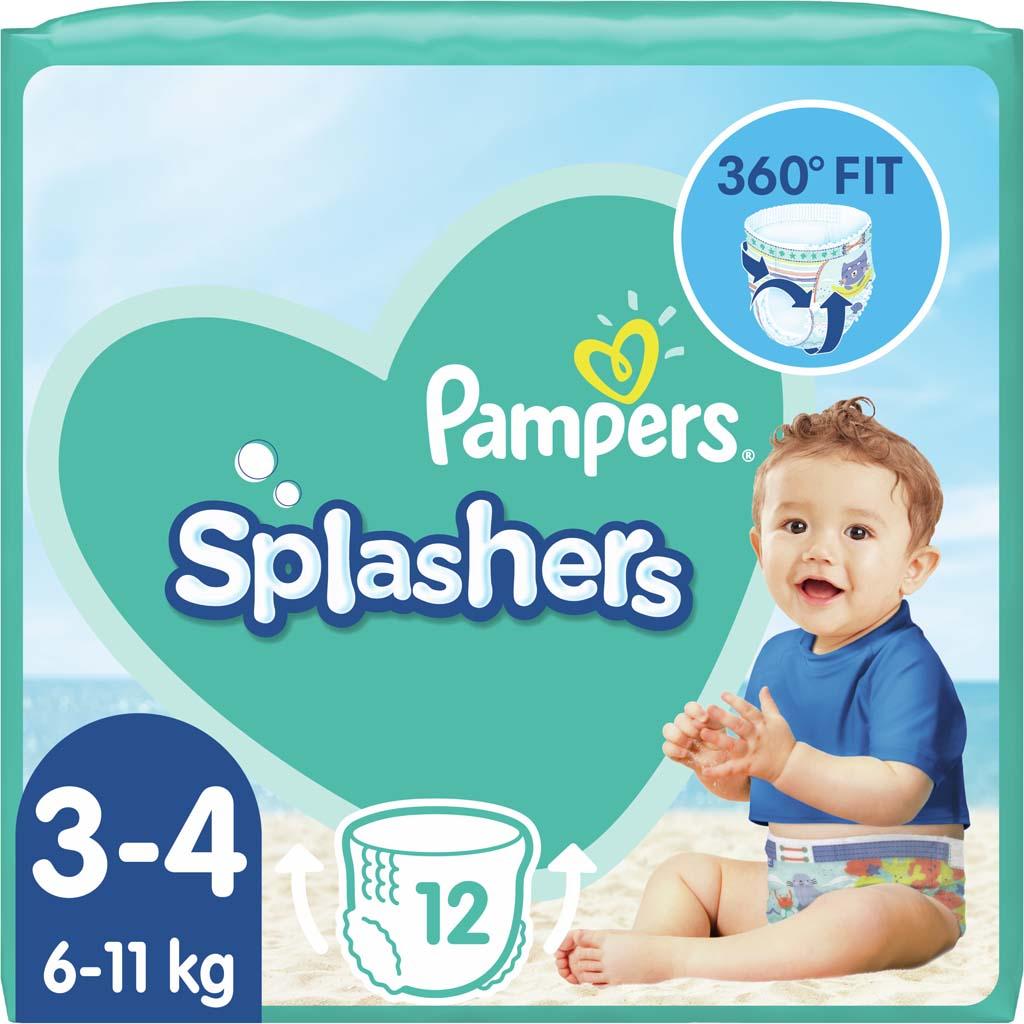 PAMPERS Plienky do vody Splashers 6-11kg 12ks
