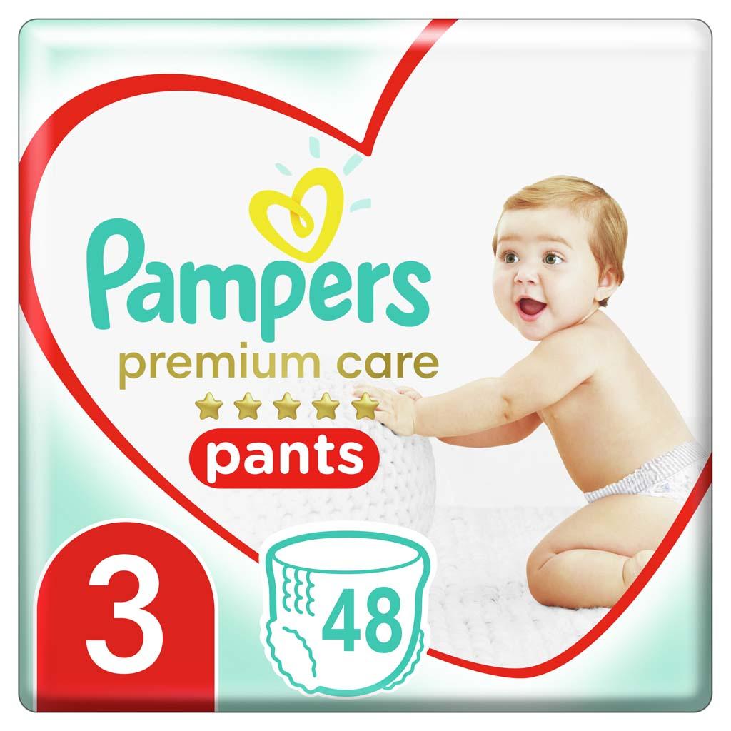 PAMPERS Nohavičky plienkové Premium Care Pants 3 MIDI 6-11kg 48ks