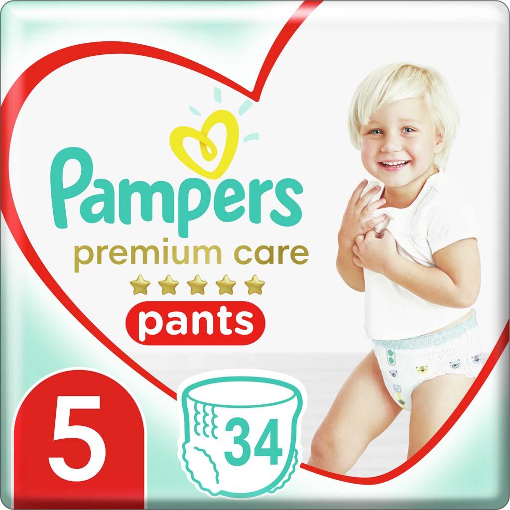 PAMPERS Nohavičky plienkové Premium Care Pants 5 JUNIOR 12-18kg 34ks