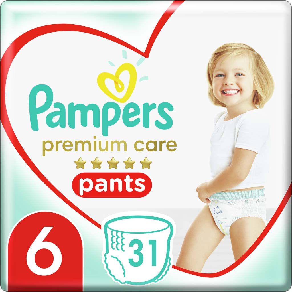 PAMPERS Nohavičky plienkové Premium Care Pants 6 EXTRA LARGE 16kg+ 31ks