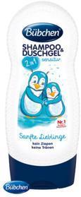 BÜBCHEN Kids šampón a sprchový gél 2v1 Sensitive - Jemný miláčik, 230 ml