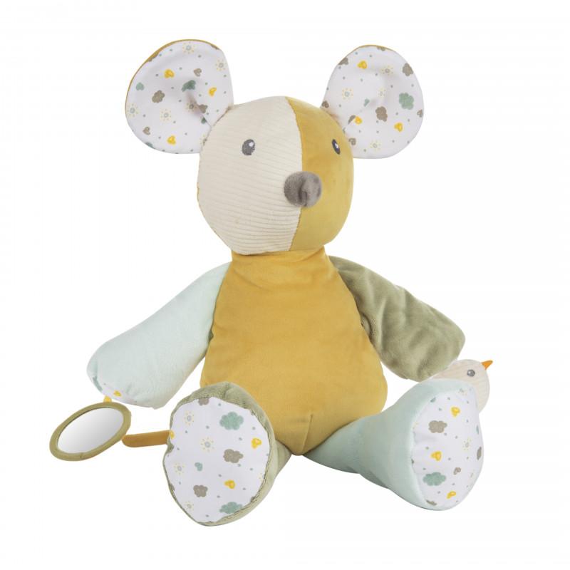 CANPOL BABIES Maznáčik hebký s pískatkom Mouse