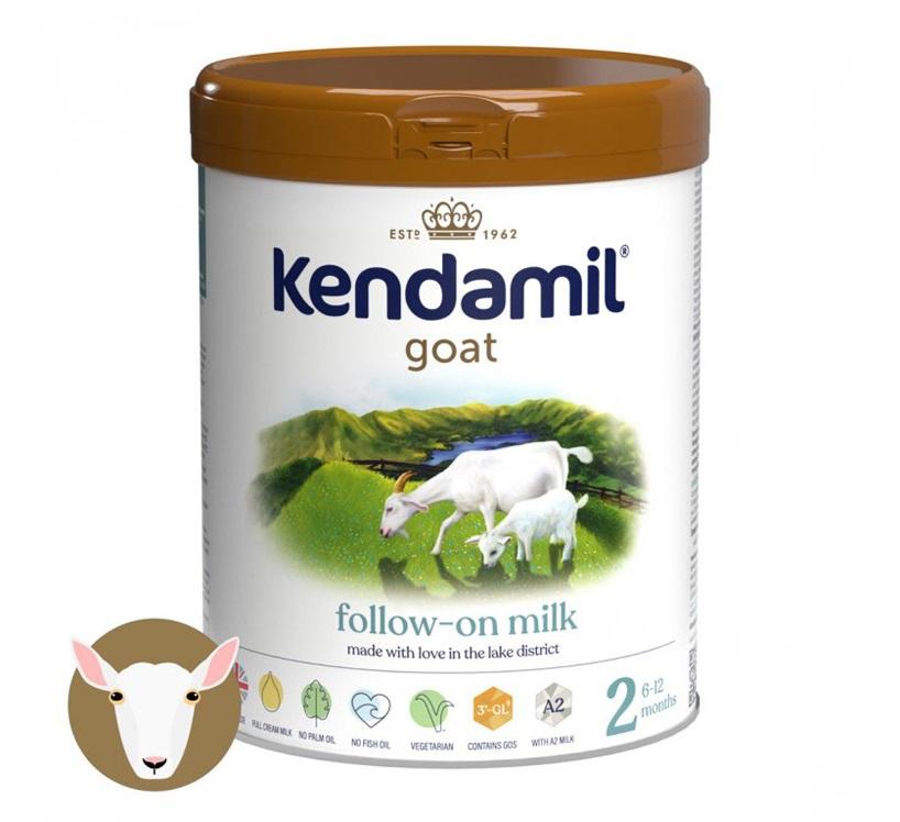 KENDAMIL Kozie pokračovacie mlieko 2 (800 g) DHA+