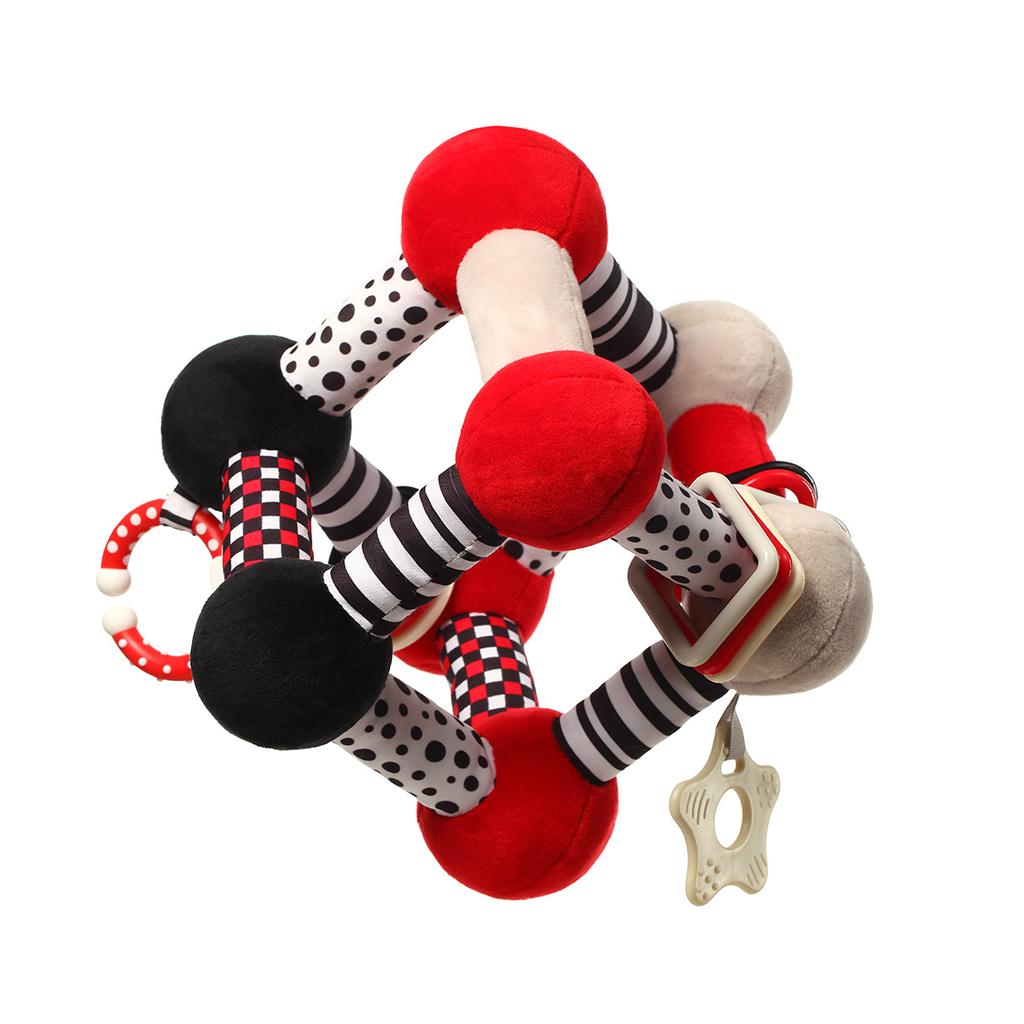 BABYONO Hračka edukačná plyšová Tiny Yoga Cube C - More Collection