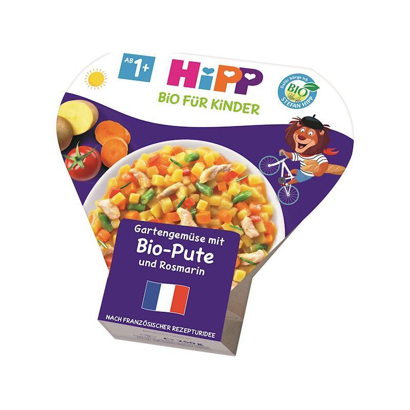 HiPP BIO Zelenina zo záhradky s BIO morčacím mäsom a rozmarínom od uk. 1. roka, 250 g