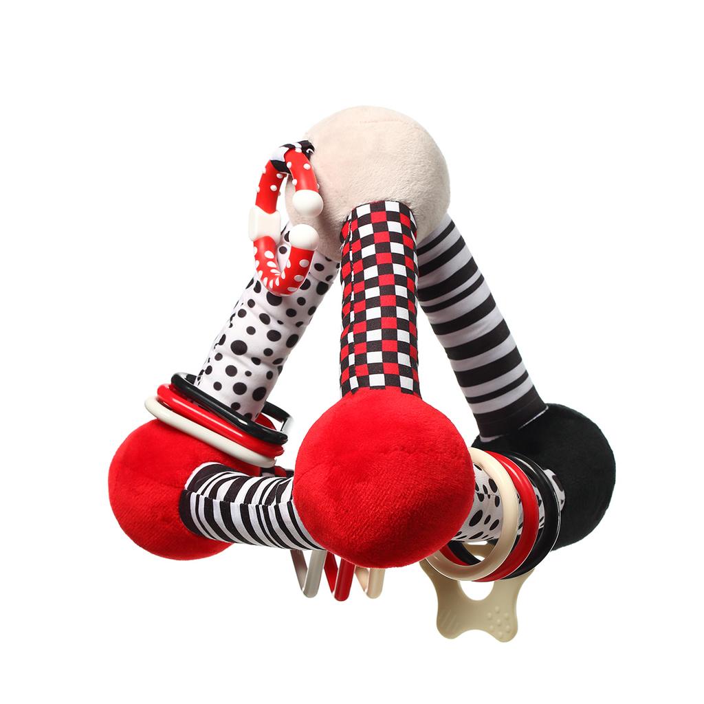 BABYONO Hračka edukačná plyšová Tiny Yoga Triangle C - More Collection