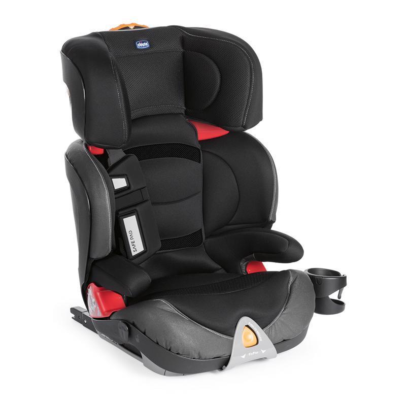 CHICCO Autosedačka Oasys 2-3 FixPlus Evo Jet Black (15-36 kg)