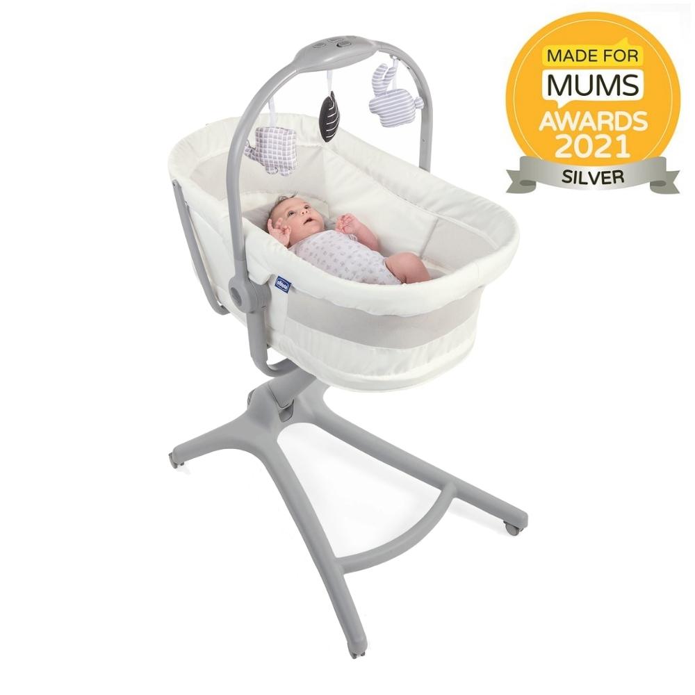 Postýlka/lehátko/židlička Chicco Baby Hug Air 4v1 White Snow