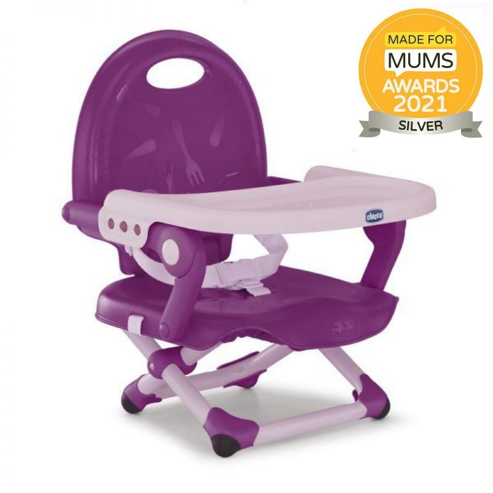 CHICCO Podsedák přenosný Pocket Snack na židli - Violetta