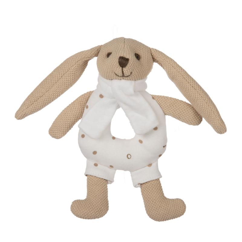 CANPOL BABIES Zajačik Bunny s hrkálkou bežový