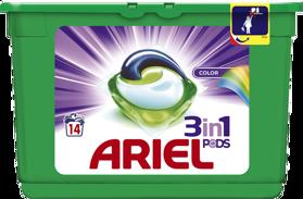 ARIEL Kapsuly gélove na pranie All-in-1 Color, 14 praní