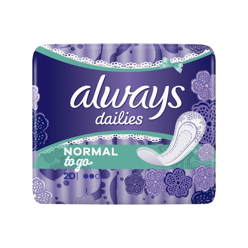 ALWAYS Dailies Normal To Go Intímky 20 ks