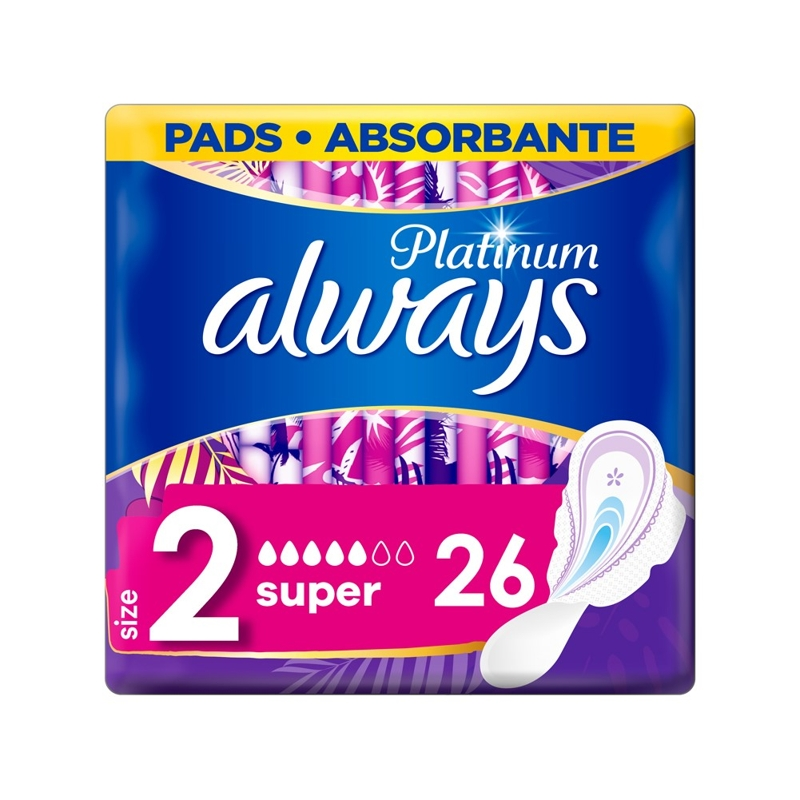 ALWAYS Platinum Super Vložky hygienické 26 ks