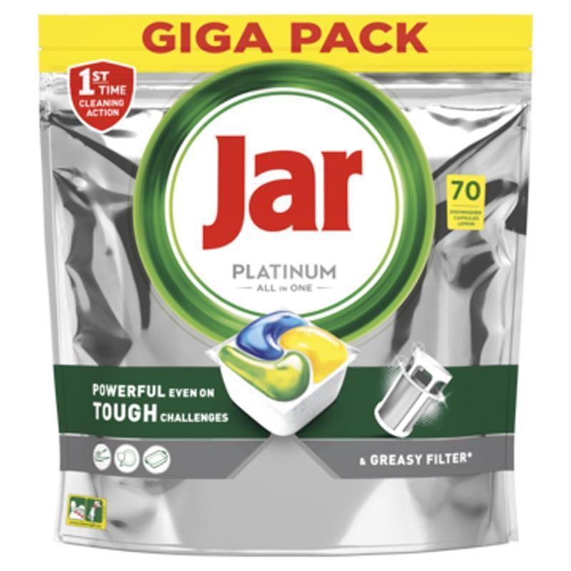 JAR Platinum All In One tablety do umývačky Lemon, 70 ks