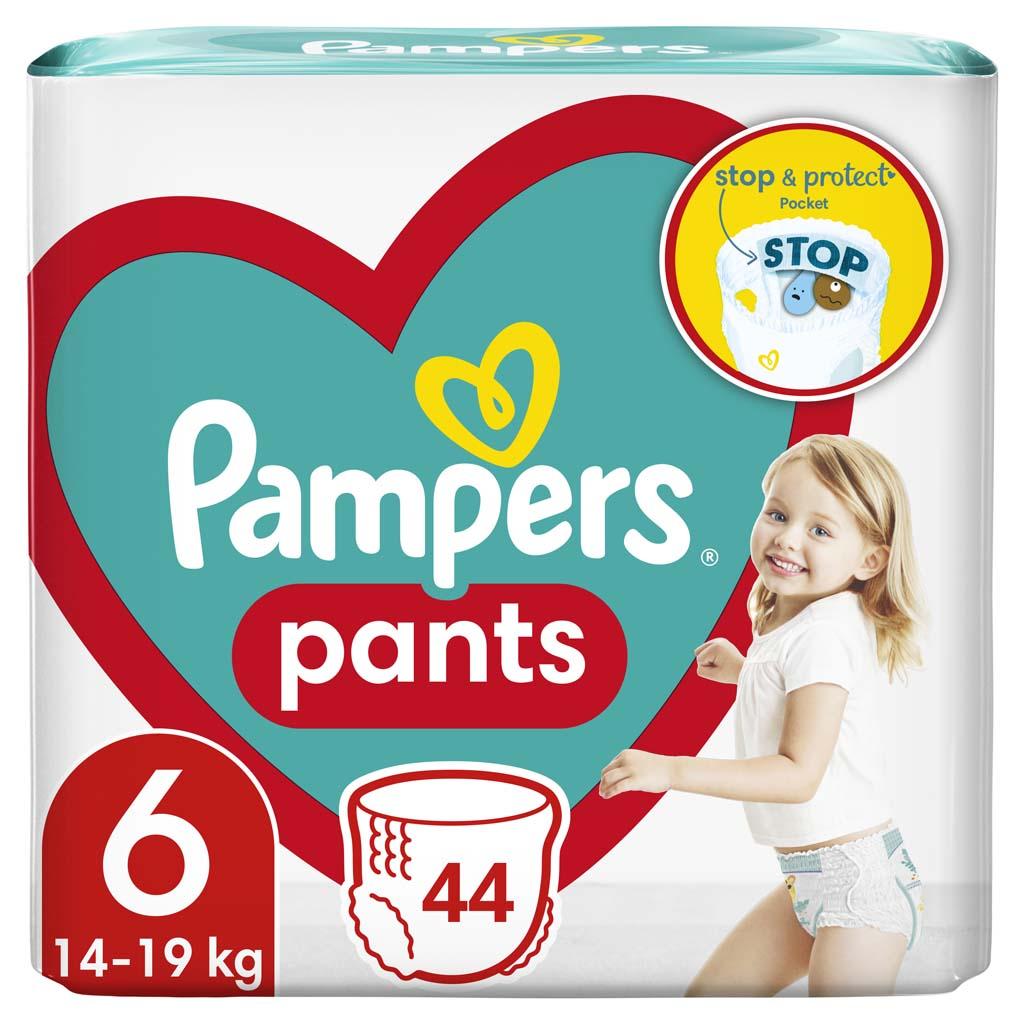PAMPERS Nohavičky plienkové ActivePants 6 EXTRA LARGE 16+kg 44ks