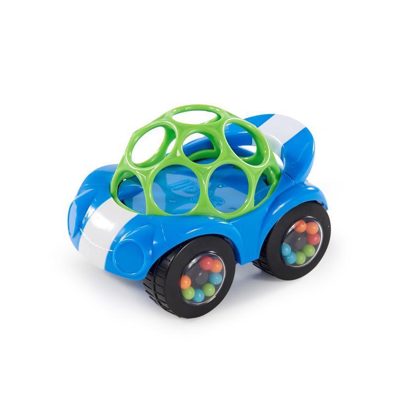 OBALL Autíčko Rattle & Roll Oball™ modro / zelené 3m+