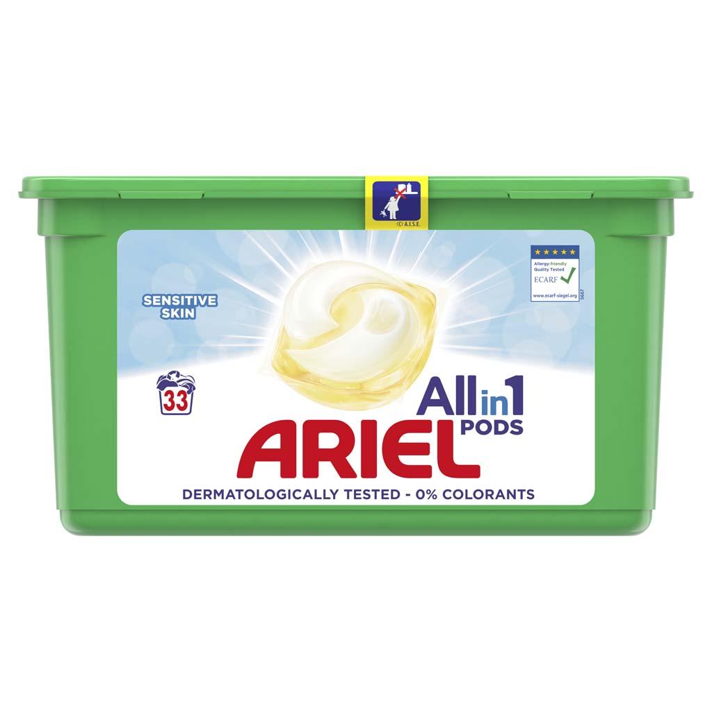 ARIEL Kapsuly gélové na pranie All-in-1 PODS Sensitive, 33 praní