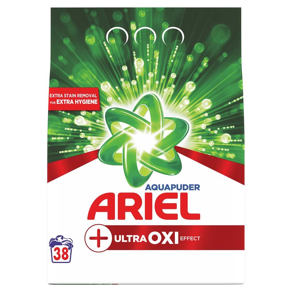 ARIEL Prášok na pranie AquaPuder Ultra OXI effect, 38 praní