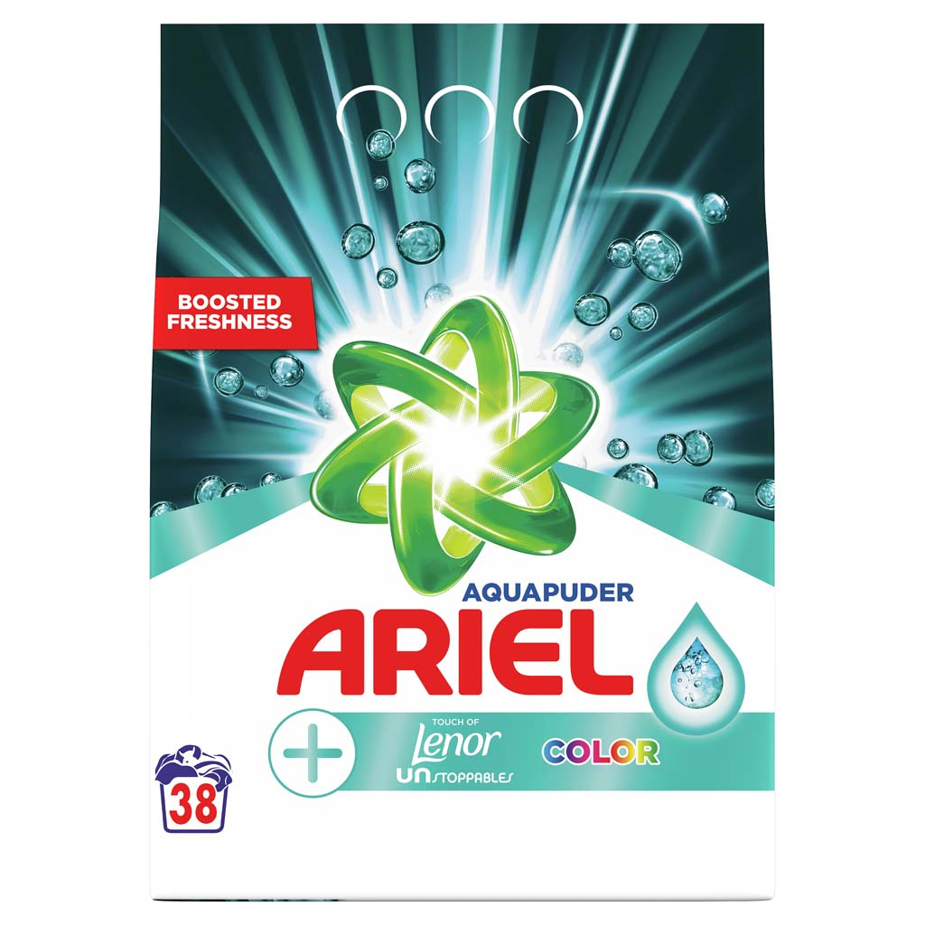 ARIEL Prášok na pranie AquaPuder Touch Of Lenor Color, 38 praní