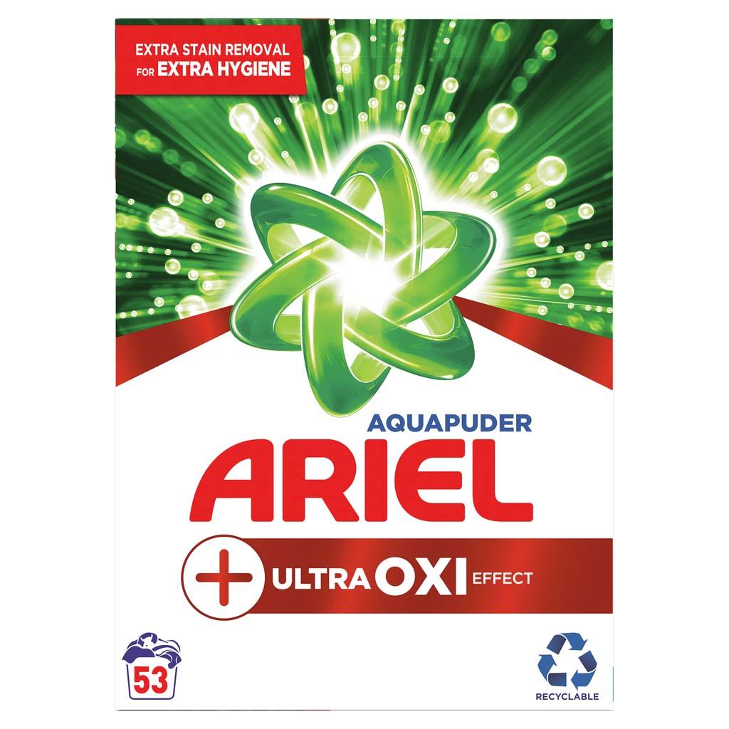ARIEL Prášok na pranie AquaPuder Ultra OXI effect, 53 praní