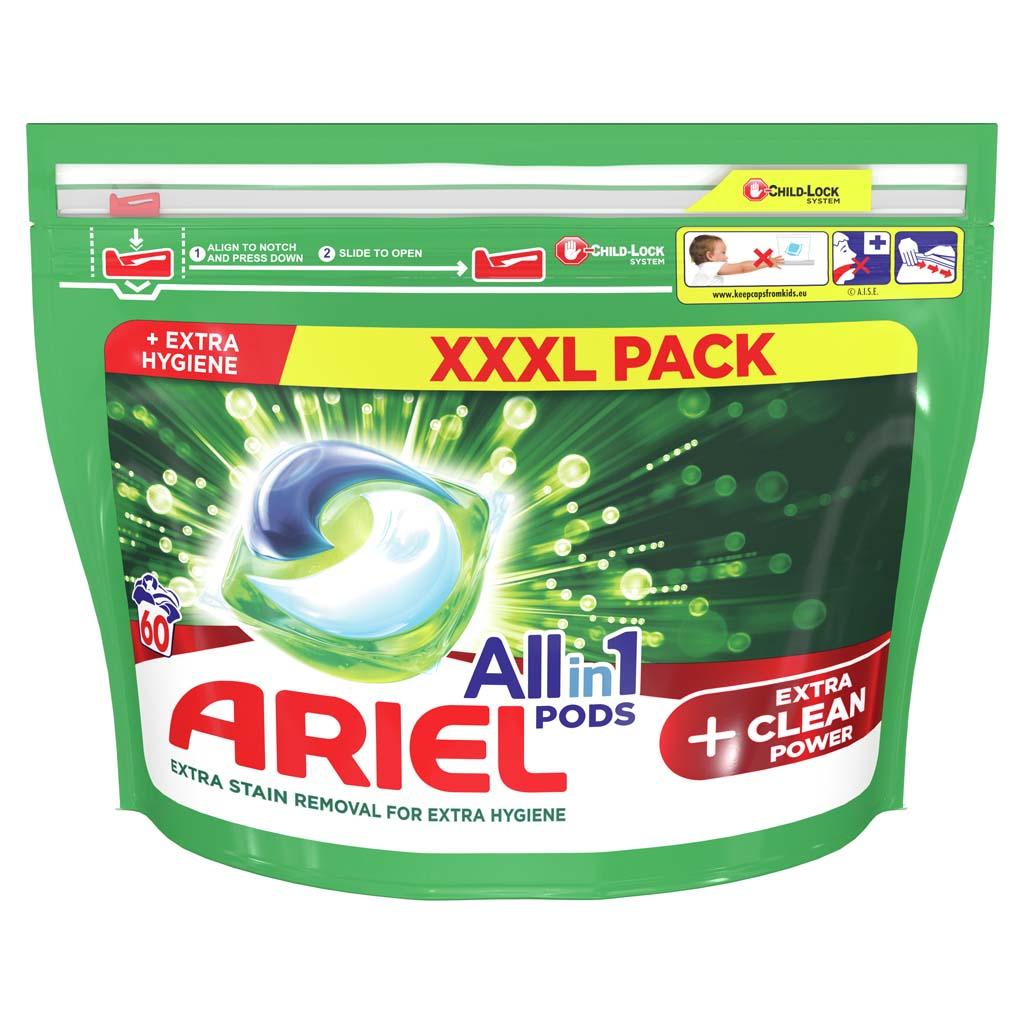 ARIEL Kapsuly gélové na pranie All-in-1 PODS Extra Clean Power, 60 praní