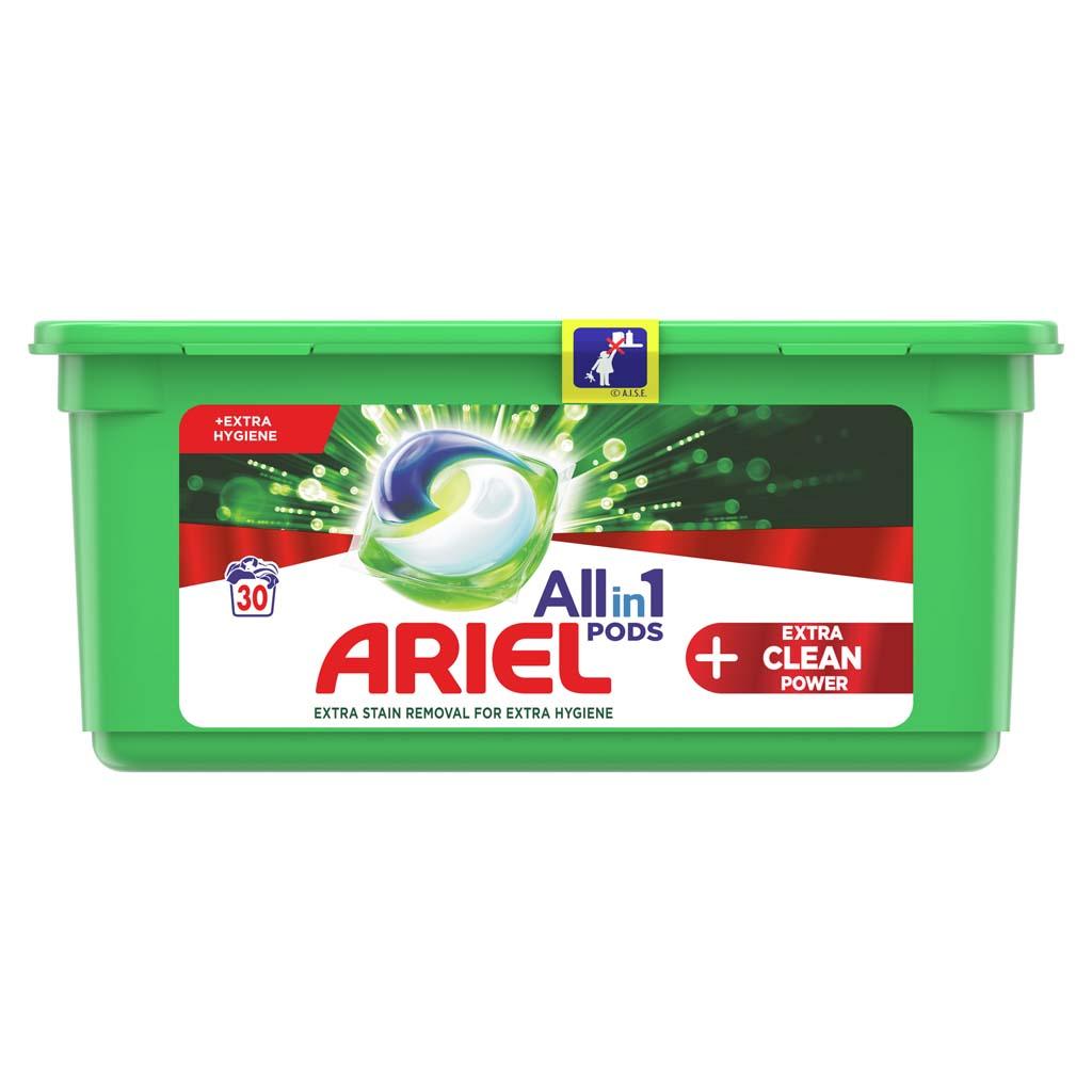 ARIEL Kapsuly gélové na pranie All-in-1 PODS Extra Clean Power, 30 praní