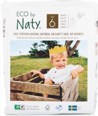 Plenky jednorázové Babycare 6 Junior 16 + kg 17ks Naty Nature